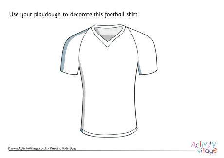 Football Shirt Card Template by Football Shirt Playdough Mat