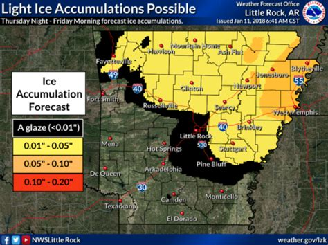 winter weather advisory issued for large part of arkansas