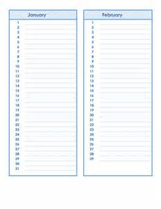 birthday and anniversary calendar template formal word