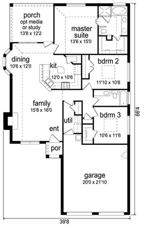 one story house plans 1500 square feet 2 bedroom 1500 square feet 3 bedrooms 2 batrooms 2 parking space