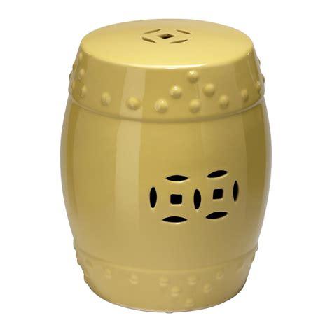 yellow garden stool yellow classic prosperity ceramic garden seat stool