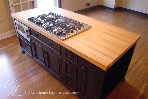 kitchen island counter custom hard maple wood countertop princeton new jersey