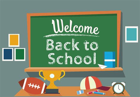 back to school back to school vector illustration free vector