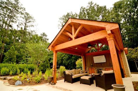 cabana outdoor living space traditional pool atlanta