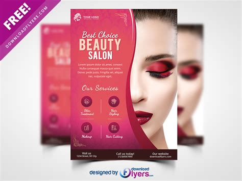 Beauty Salon Flyer Template Free Psd By Flyer Psd Dribbble Salon Flyer Templates Free