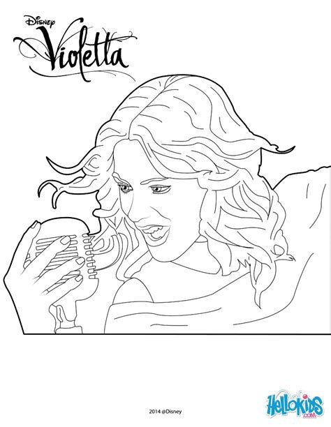 printable coloring pages violetta violetta singing coloring pages hellokids