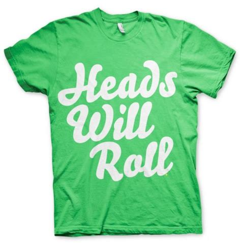 Hoodie Sweater Yeah Yeah Yeahs Cloth heads will roll typography t shirt by regal clothing