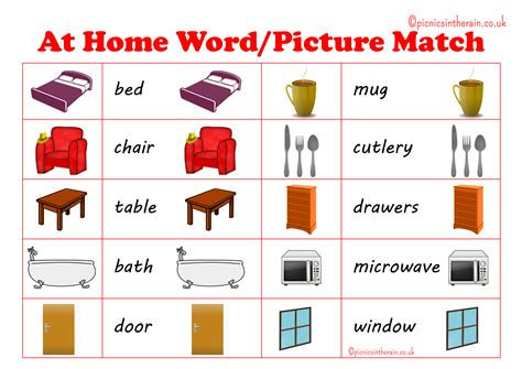printable word matching games at home word picture match game with free printable