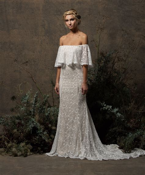 Shoulder Lace Wedding Dress lottie shoulder lace wedding dress dreamers and