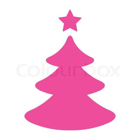 einfacher pink weihnachtsbaum vektorgrafik colourbox