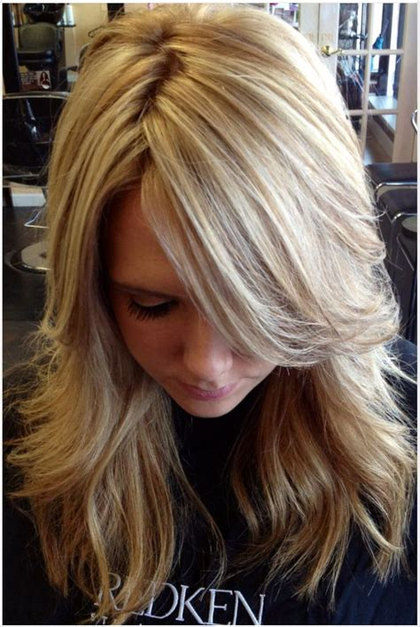 fine blonde highlights dark brown hair with thin blonde highlights impression