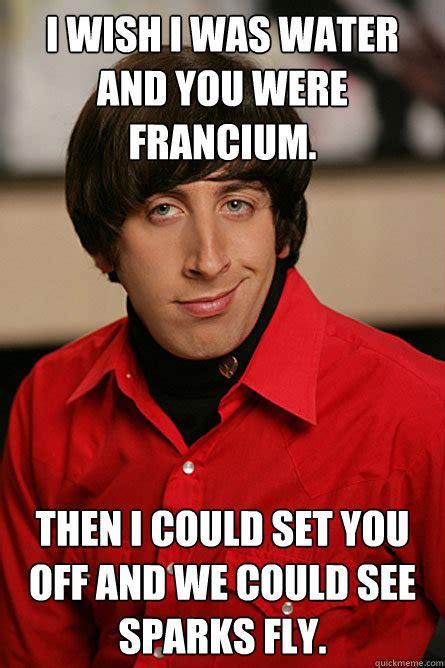 Wish Meme - francium reacting with water memes