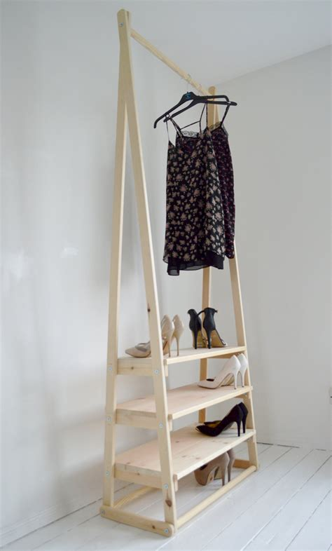 handmade wardrobe with shelves for handmade natural wood clothes rack clothes rail with 3