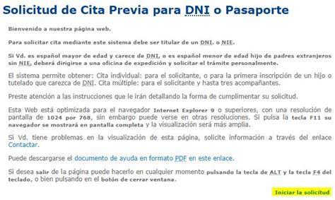 solicitar turno para apoderado cita previa dni y pasaporte por internet y tel 233 fono