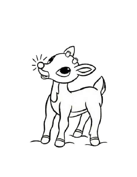 coloring pages deer rudolph reindeer coloring pages