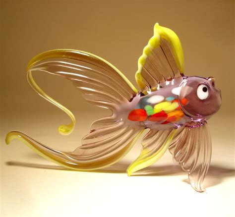 Handmade Glasses - 22 stunning handmade blown glass fish figurine by bill