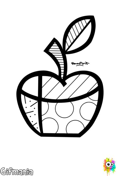 Free Britto Coloring Pages Romero Britto Coloring Pages