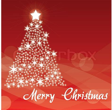 merry christmas red background white tree stock vector colourbox