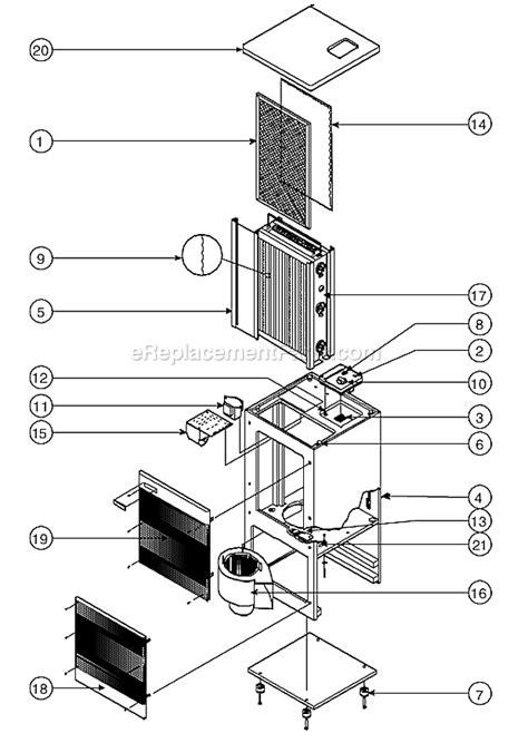 oreck oreck air 4000 parts list and diagram ereplacementparts