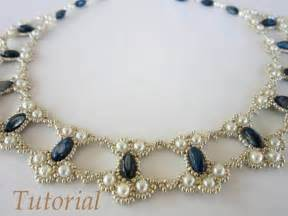 pdf tutorial lace beaded necklace seed bead pearl oval