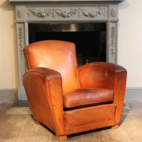 club armchair leather 1930s 40s french leather club chair leather armchairs