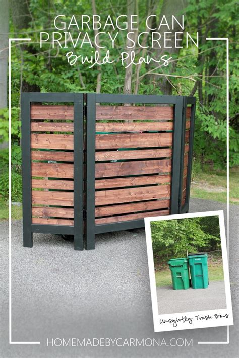 Best 25  Hide trash cans ideas on Pinterest   Outdoor