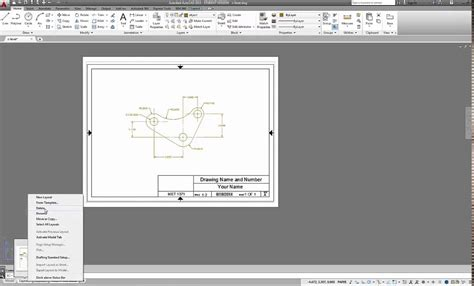create layout in autocad autocad 2015 using a titleblock template and creating pdf