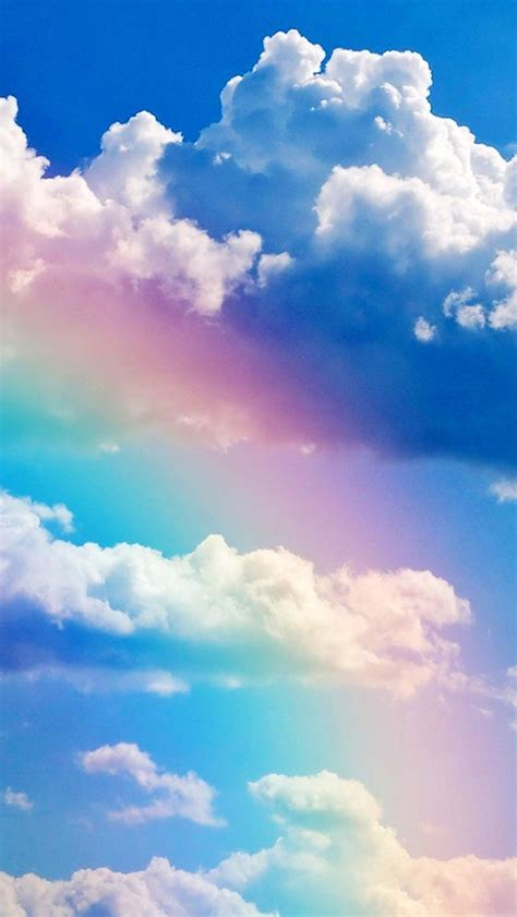 wallpaper for iphone 6 rainbow rainbow and blue sky wallpaper free iphone wallpapers