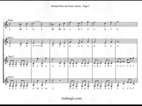 row your boat trumpet play quot michael row the boat ashore quot on flute clarinet and