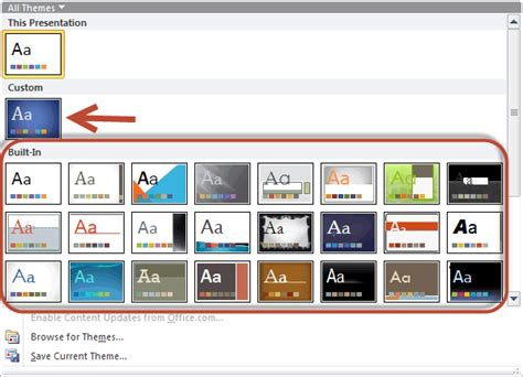 Remove Themes Powerpoint 2010 | luc s powerpoint blog remove the built in themes from ppt
