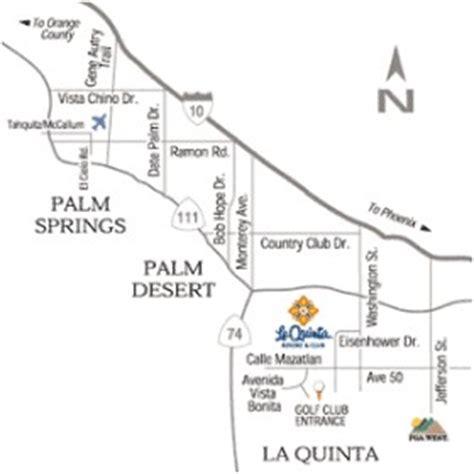 southern california map la quinta map of la quinta california california map