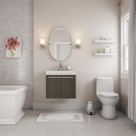 muted modern bathroom bathroom  home depot