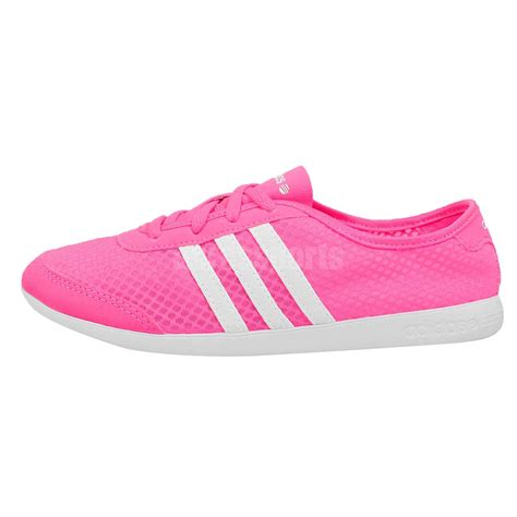 adidas neo label qt lite w pink white light womens casual shoes fashion sneakers ebay
