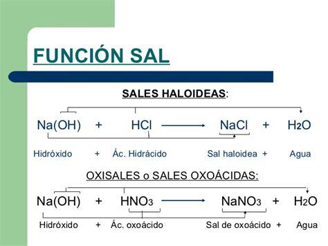 sal quimica funcion sales
