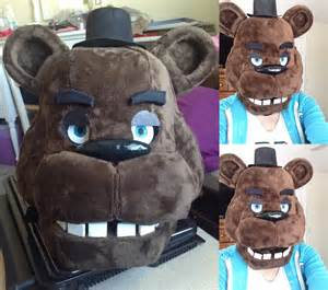 Fnaf freddy fazbear head by kittyuniverse on deviantart