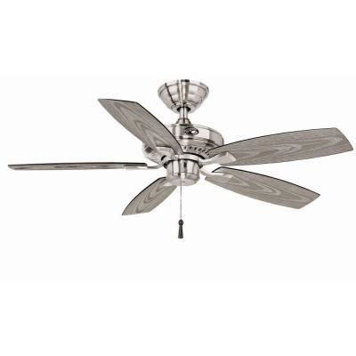 42 in outdoor ceiling fan hton bay gazebo ii 42 in indoor outdoor brushed nickel