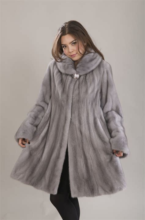 swing fur coat sapphire mink fur swing coat mink coats pinterest