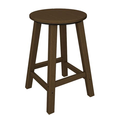 stool bar height traditional counter height bar stool by polywood
