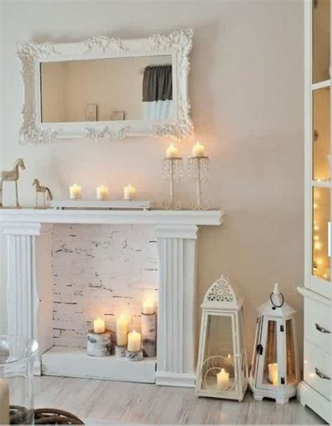 candles in fireplace faux candle fireplaces