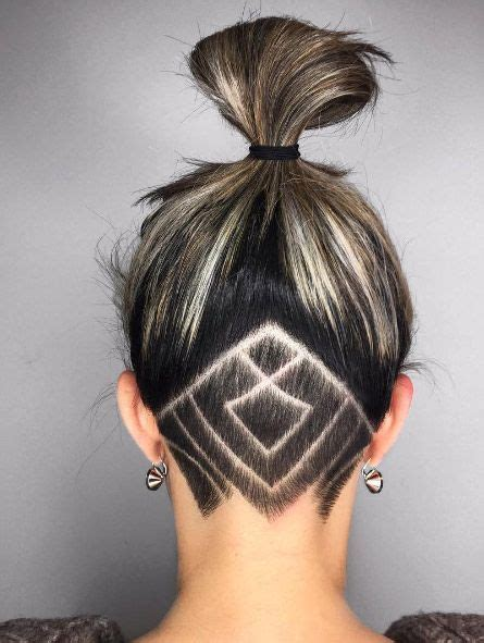 back of head shaved hair designs 45 undercut hairstyles with hair tattoos for women page 2
