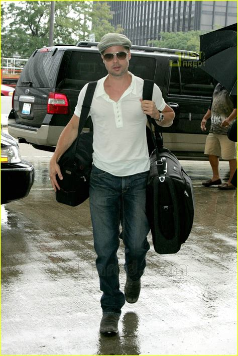 haircut chicago airport brad pitt headed to new orleans solo celebrity couples