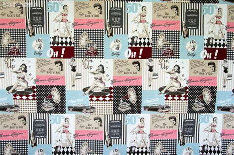 50s Kitchen Cabinet by Retro Elvis Pin Up Fabric 50 S Eclectic Fabric