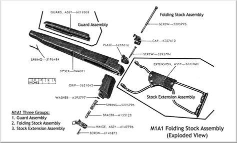 m1 carbine parts diagram m1 carbine parts breakdown wiring diagrams wiring diagram