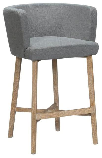 gray linen counter stool new bar stool light gray wrinkled linen wood