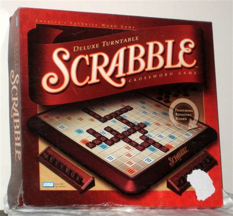 scrabble with turntable sold brothers deluxe turntable scrabble crossword