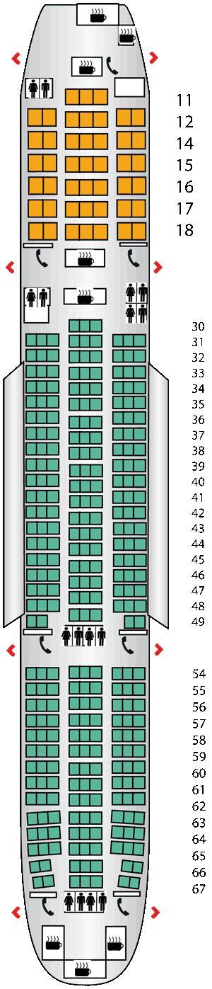 seating plan boeing 777 200 boeing 777 200 seating