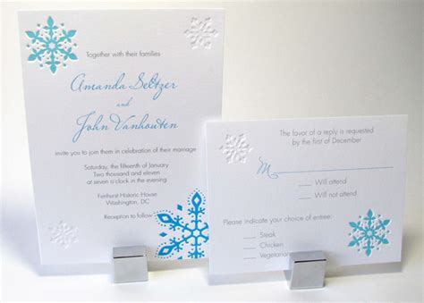 Winter Wedding Invitations by Etsy Eye Winter Wedding Invitations