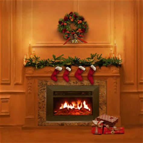Fireplace Photo Backdrop by Tree Indoor Fireplace 10x10 Cp Photo Scenic