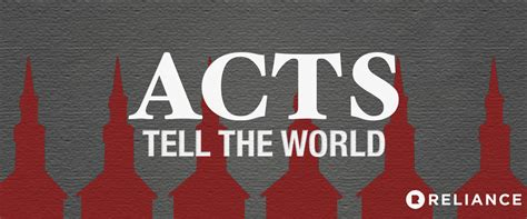 acts sermon series reliance church