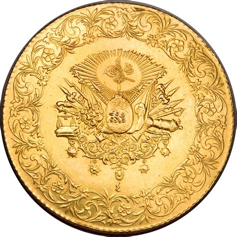 Ottoman Currency 500 Kuruş Mehmed V 1910 1914 Ottoman Empire Km 765 Coinsbook
